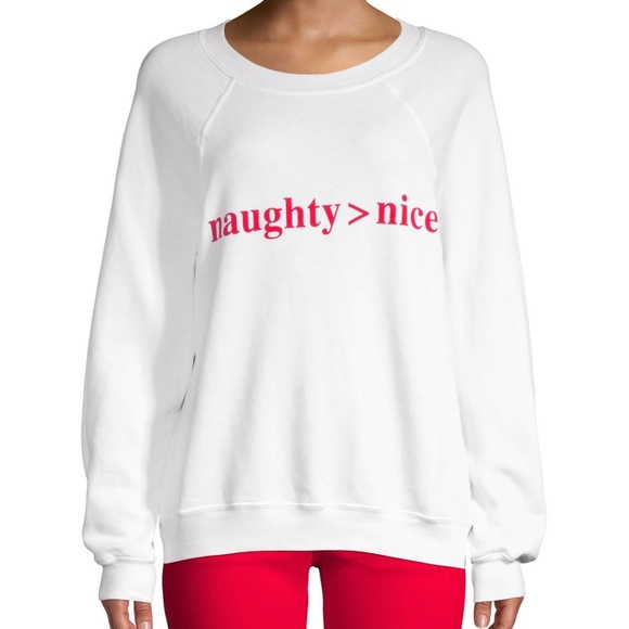 Wildfox Couture I LoveYou More Than Wine Raglan Size M Color Red